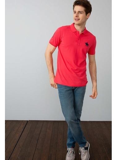 U.S. Polo Assn. Polo Yaka Tişört Pembe